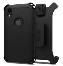 """Seidio Dilex Combo Holster and Case For Apple iPhone XR 6.1"""" Inch Black"""