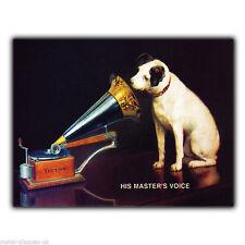 HMV His Master's Voice 1930's Vintage Retro poster art print kitsch picture