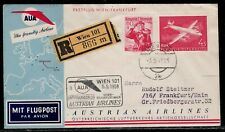 AUSTRIA 1958 First Flight Cover with Stamps - Vienna - Frankfurt First Flight
