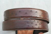 Luxury Brown Genuine Ostrich Leather SKIN Men's Belt - W 1.5 inch