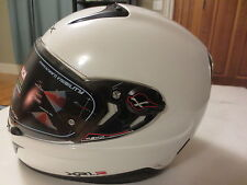 Nexx XR1R Full Face Helmet (White Shiny, X-Small) Motorcycle Tri-composite Shell