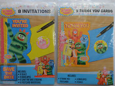 Yo Gabba Gabba Birthday Invitations AND Thank you Cards