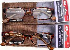 FOSTER GRANT EnhancedVision Reading Glasses +2.75 *SET OF 2* 50-19-142 (C2)>NEW<