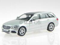 Mercedes S205 C-class T-model estate Avantg. silver diecast model car Norev1/43