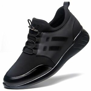 """Men's 2"""" Taller Invisible Height Increasing Elevator Shoes Sneakers Round Toe"""