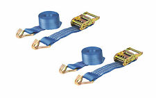 PAIR 2000kg 50mm x 3m Heavy Duty RATCHET STRAP Tie Down 2 Ton (2500kg webbing)
