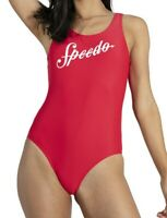 REDUCED.SPEEDO WOMENS SWIMSUIT.SHOSHIN U BACK RED ENDURANCE SWIMMING COSTUME 9W