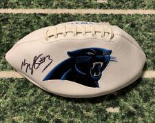 Kelvin Benjamin Autographed Panthers Logo Football. JSA Authenticated.