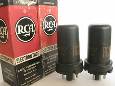 2 matched 1961-64 RCA 6J5 tubes - Hickok TV7B tested @ 111, 116, min:50
