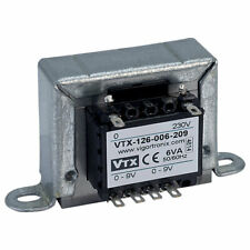Vigortronix VTX-126-006-209 Chassis Transformer 230V 6VA 9V+9V