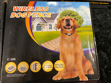 Wireless Dog Fence Electric Pet Containment System 900Ft Radius For Stubborn Dog