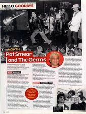Hello, Goodbye Pat Smear & The Germs Magazine Cutting
