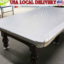 PVC Cloth 8ft Heavy Duty Fitted Billiard Pool Table Cover Silver Gray