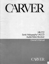 Carver HR-772 Receiver Owners Manual