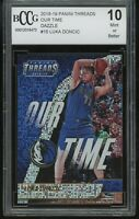2018-19 panini threads our time dazzle LUKA DONCIC rookie BGS BCCG 10