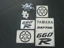 STAINLESS YAMAHA RAPTOR 660 FENDER WARNING LABEL TAGS COVERS NEW YFM660 YFM