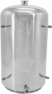 """HFS(R) 304 Stainless Steel Base Container 12"""" Diameter by 36"""" Tall"""