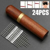 Wholesale Stainless Steel Self-threading Needles Opening Sewing Darning+Holder