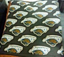 New Handmade Jacksonville Jaguar (old Logo) Nfl Quillow (Pillow w/ 5ft quilt)