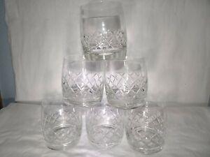 Crystal Glass Set of 6 Rocks Tumbler Whiskey Cognac Vodka 10oz GERMANY