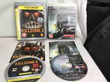 Killzone 2 & Dishonored Playstation 3 Games Ps3