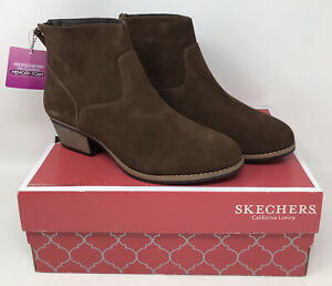 Skechers Lasso 49946 Ankle Boots Women's Size 9 Brown NEW Genuine Authentic