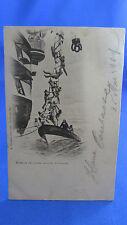 cpa marine bateau l echelle de poupe illustration marin  metier
