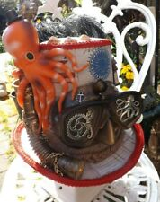 Steampunk Top Hat, Nautical Nonsense, Truly Original, With Octopus, Size 60 cms.