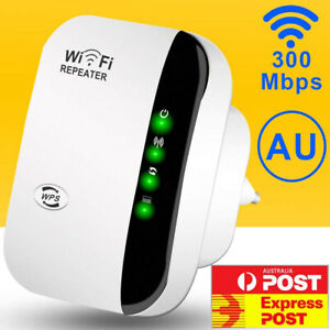 FAST SPEED 300Mbps WiFi Repeater Wireless Signal Extender Booster Range Router
