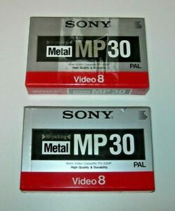 Pack 2 cintas Sony video 8 Metal MP 30 min. PAL / NTSC - nuevo
