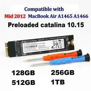 New 128GB 256GB 512GB 1TB SSD For Mid 2012 Apple Macbook Air A1465 A1466 EMC2558