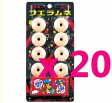 Whistle Candy with small Toy Lots 20 Coke Cola CORIS Ramune fun sounds Japan F/S