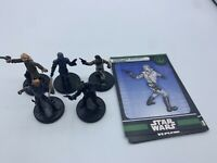 Star Wars Miniatures Lot of 5 LEGACY OF THE FORCE WITH CARDS