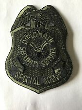 """DSS Diplomatic Security service Special Agent Subdued SWAT 3"""" Police patch"""