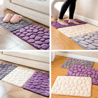 US Absorbent Non-slip Cobblestone Rug Bathroom Kitchen Mat Door Carpet Decor