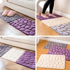 US Absorbent Non-slip Cobblestone Rug Bathroom Kitchen Mat Door Carpet Decor