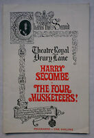 THE FOUR MUSKETEERS !.ALEXANDRE DUMAS.DRURY PROGRAMME.H SECOMBE.A WOODS.1968
