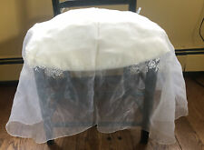 White Lace Chair Wedding Shower Home Seat Covers