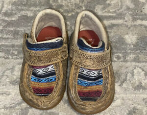 Twisted X Infant Boy Brown Bomber Driving Moc Shoes ICA0004 Sz 4
