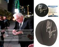 Phil Esposito Boston Bruins Signed Autograph Ice Hockey Puck Proof Beckett BAS