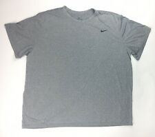 New Nike Team Legend Short Sleeve Crew Training Shirt Men's 4Xl Gray 727982 $25