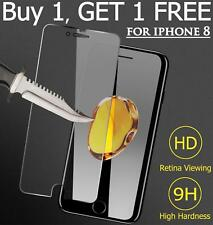 For Apple IPhone 8, 100%  Tampered Glass Film Screen Protecter 3D - 2PK