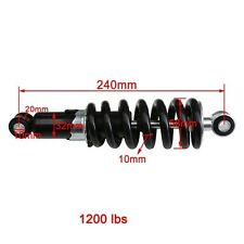 "240mm 9.5""Motorcycle Shock Absorber Rear Suspension Shock Dirt Pit Bikes 1200lbs"