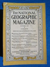 National Geographic Magazine October 1929 Vintage Ads Car Truck Advertising