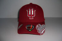 INDIANA UNIVERSITY IU HOOSIERS FITTED HAT CAP YOUTH SIZE ONE SIZE FITS MOST NWT!