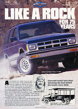 1992 Chevrolet Chevy Trucks - 75 Years - Classic Vintage Advertisement Ad D68