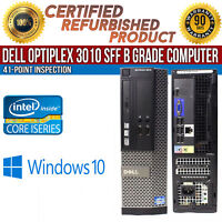 Dell OptiPlex 3010 SFF Intel i3 4 GB RAM 250 GB HDD Win 10 HDMI B Grade Desktop