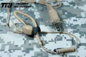 TRI  M3 Tactical Earphone In Ear Headset - PRC 148 152 MBITR TEA PTT TCI Peltor
