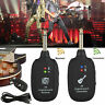 UHF Wireless Guitar System Transmitter Receiver Built-in Rechargeable 20Hz-20kHz