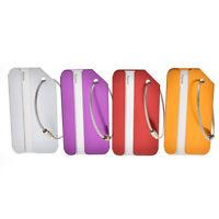 1/4x aluminium Metal Etiquette de bagage étiquettes bagages de voyage identit